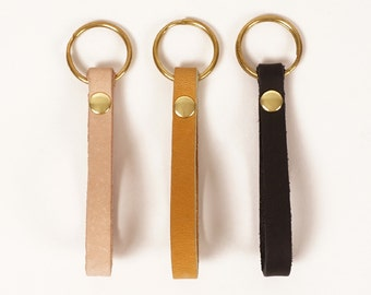 Natural leather keychain | TANGO KEY FOB