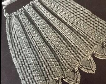 Crochet Apron Pattern, Crochet Doily Apron Pattern, Instant Download, Downloadable Patterns, vintage pattern
