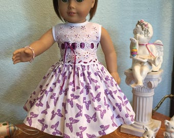 Purple Butterfly and Eyelet Dress