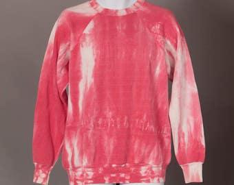 Vintage 80s Worn Tie Dye Sweatshirt