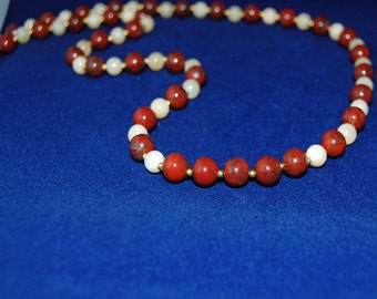 Jasper Aragonite Handmade Natural Stone Necklace