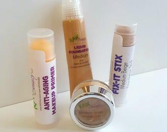 Mini Starter Makeup Set for the Minimalists by RAW Beauty LLC