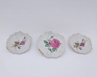 Vintage Nasco Japan 3 plate set