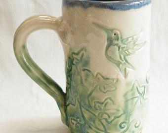 ceramic hummingbird mug 16oz stoneware 16C014