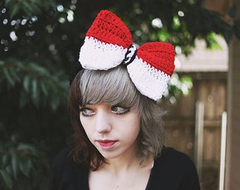 Pokemon - Pokeball Handmade Crochet Bow Headband