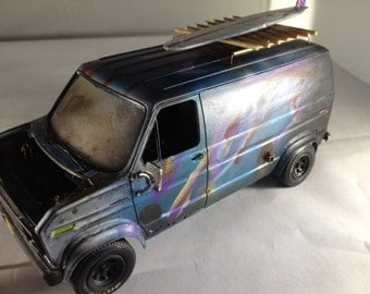 Scale Model Car, Ford Van, Classicwrecks,Rusted Wreck