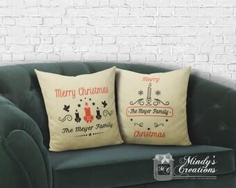 Farmhouse Christmas Pillows