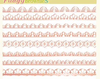 ON SALE, Rose gold lace border clipart, digital scrapbooking borders. A-01,Rose gold border clip art, pink gold