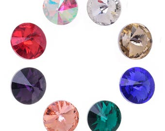 8mm Pointed Back high quality rhinestone crystal stone decoration pointed bottom drill jewelry 50pcs 101816