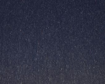 Poly Linen Jersey Fabric -Navy (201)