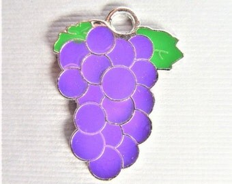 26mm. 5CT. Grapes Charms