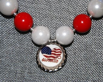 American sweetie chunky bead necklace