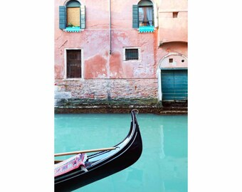 Venice travel photo, Venice Italy photo, Venice photograph, blue coral wall art, Venice wall art, Venice photos, Venice print, aqua blue art