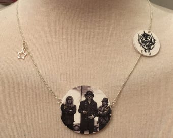 Silver Plated Handmade Motorhead Necklace