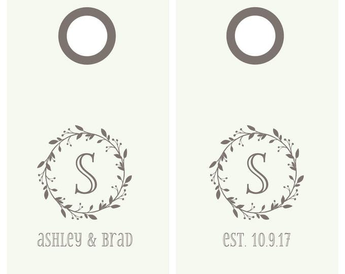 Wedding Cornhole Decals | Wedding Monogram | Personalized Wedding Decal | DIY Wedding Decor | Wedding Gifts for Couple