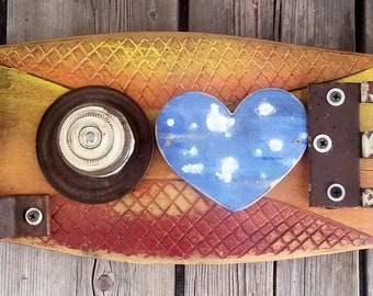 Wall Art Original Vintage reclaimed wood Sign Rusty Metal Industrial