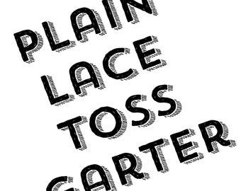 Plain Lace Garter