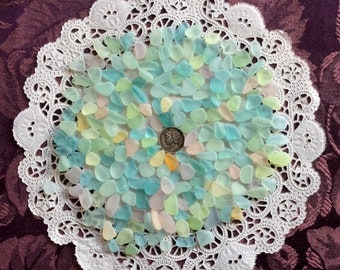 Free Shipping 200 Rough tiny small genuine sea glass  RPT-F6-C