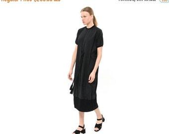 SALE 40% OFF Loose Fit Modern Kaftan Dress, Womens Summer Fashion, Short Sleeve Casual Midi