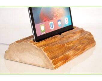 "iPad Pro 12.9"" docking station - rustic design - iPad Pro 12.9 charging station - handmade item - Unique Present"