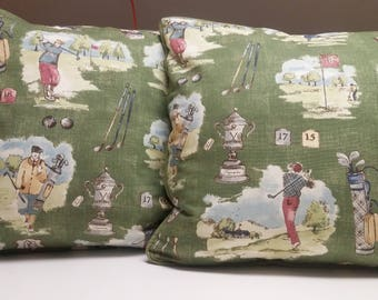 Reversible Golf Pillow Cover-20 x 20 - Self Corded with Zipper