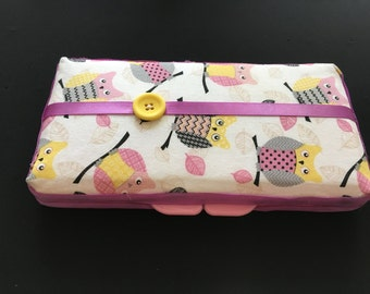 Owls Custom Baby Wipe Case