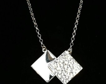 Squared Pendant in Sterling Silver