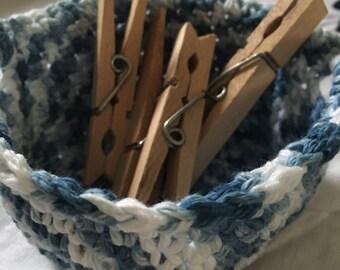 Indigo dyed basket