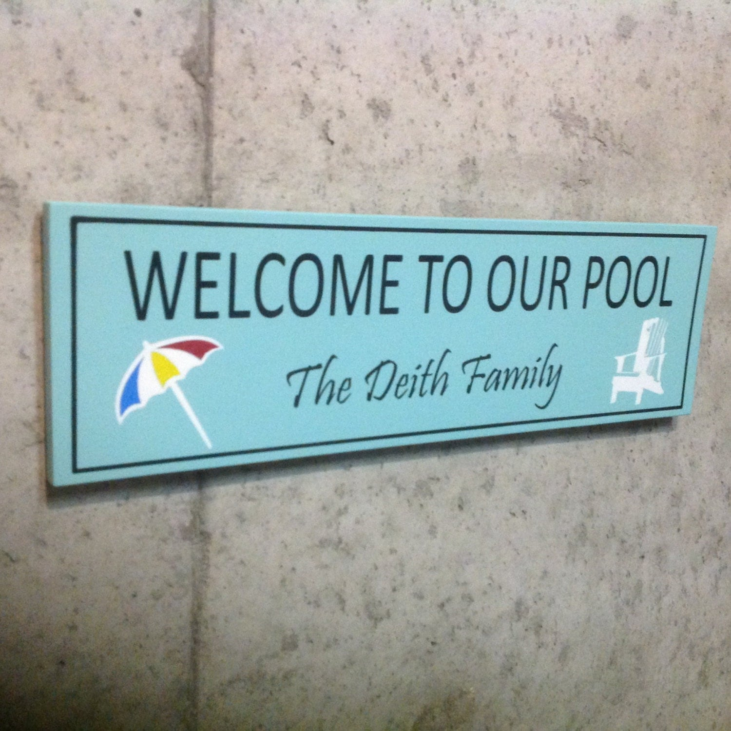 Wooden Signs Home Decor: Welcome To Our Pool Signs Custom Wooden Sign Home Decor Wood