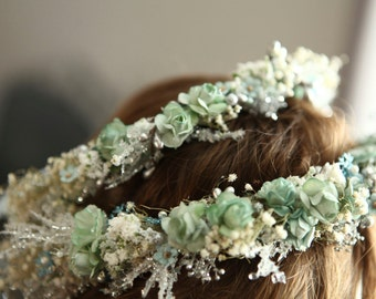 Mother/Daughter Set of Halos for Winter Wonderland Shoot w or without Matching Maternity Sash