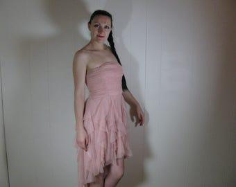 Pink strapless fairy dress Juniors size 7 waist 23'' -31''