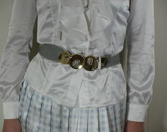 1980's  SPACE AGE LAUREN buckle and belt