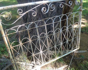 Vintage Wrought Iron Gate Rusted Chippy