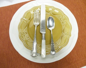 Silverplate Flatware, Set of 6 Place Settings - Wm Rogers, Mother of Pearl, Mixed Lot, Holiday Flatware, Weddings, Tea Parties