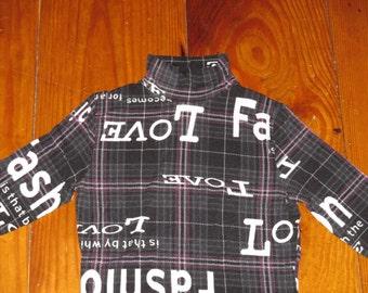Rare Vintage 1990s Benetton Harajuku Rave Fashion Love Shirt