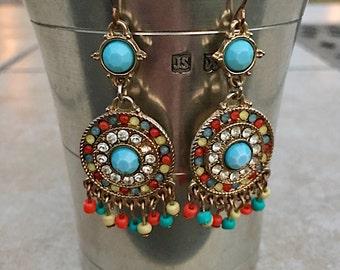 Bright Color Vintage Dangling Earrings