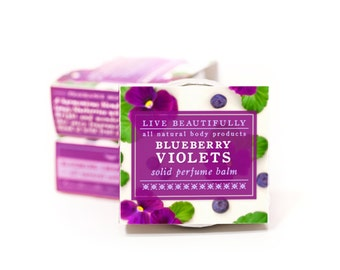Blueberry Violets Perfume - All Natural - Tangy Blueberries and Bright Violets