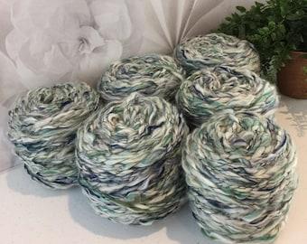 Recycled Super Bulky Wool Acrylic Blend Yarn 278.6 Yards Lot 605