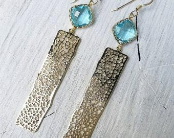 Long Coral Branch Earrings - coral, beach jewelry, beach chic, ocean jewelry, hawaii, kauai