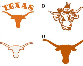 Texas Longhorn Decal/RTIC YETI  Car Decal, Computer Decal, Window Decal, Cell Phone Decal