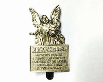 Pewter Guardian Angel bookmark, Vintage Figural, clearance Sale, Item No. B761