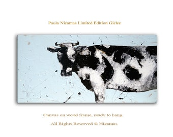 Cow Abstract Art Giclee Print on canvas Interior Decor P Nizamas ready to hang