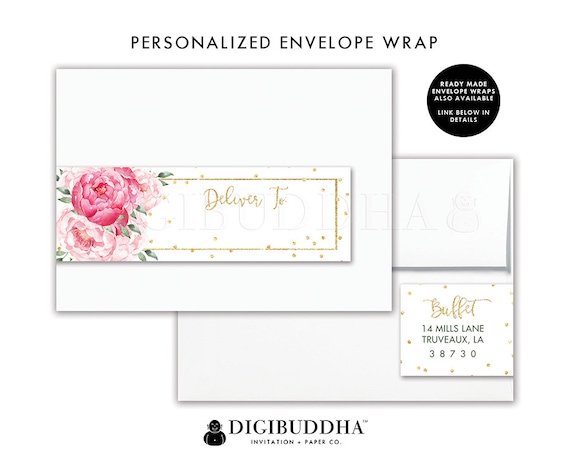 Floral Return Address Label Custom Envelope Wrap Sticker