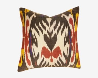Ikat Pillow, Ikat Pillow Cover 520-1ab2, Ikat throw pillows, Designer pillows, Decorative pillows, Accent pillows