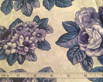 Blue Mixed Floral Cotton Fabric Pieces