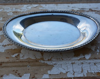 Vintage Siver Plated Trays, Cottage Chic Decor, Silver serving tray,