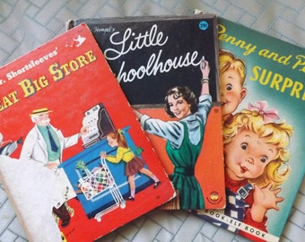 Three Vintage Children's Storybooks Including Mr. Shortsleeves Great Big Store!