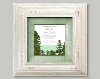 Wedding gift idea wedding invitation platter framed unique wedding gift for couple for parents gift idea 1st anniversary gift for couple