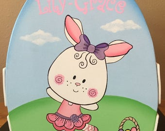 Ballerina Bunny in Spring Meadow Easter Basket