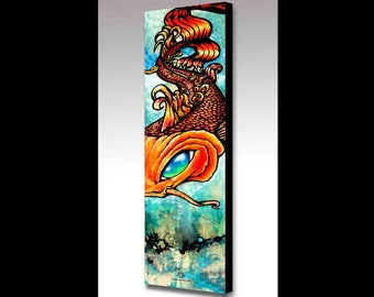 Koi Painting | Koi Art | Koi Fish Art | Tattoo Art | Canvas Print | Japanese Art | Fish Art | Spirit Animal | Spiritual Art | Modern Art
